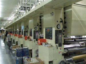 10色グラビア印刷機